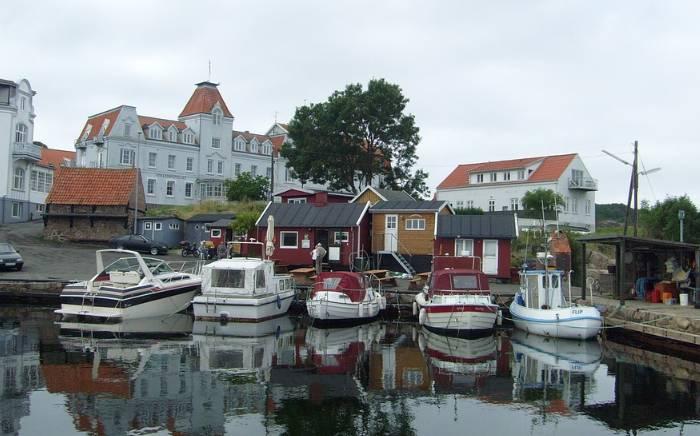 Mała przystań w Bornholm