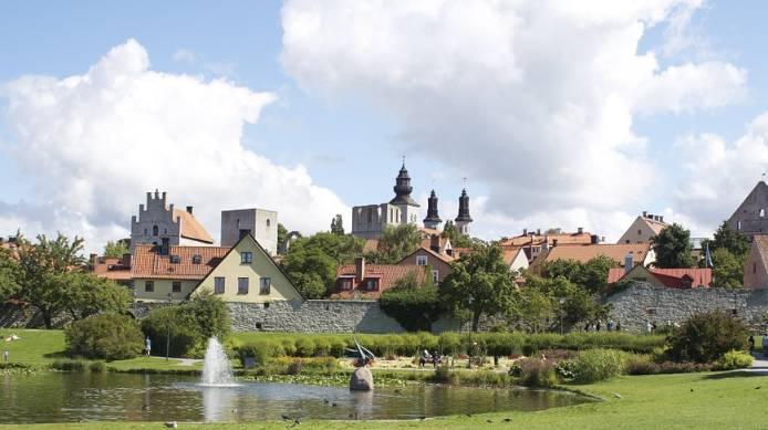 Tradycyjna zabudowa Gotlandii