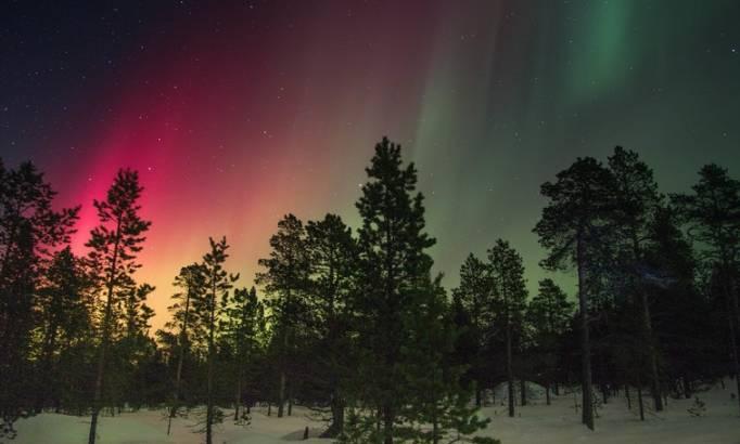Regiony Szwecji - zorza polarna