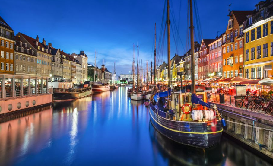 Kopenhaga nocą